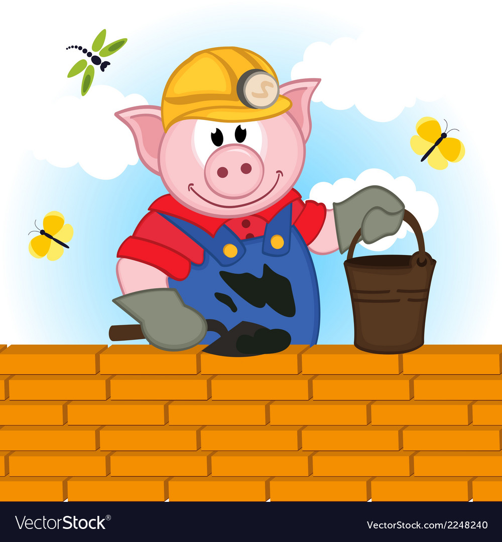 Pig builder vector | Price: 1 Credit (USD $1)