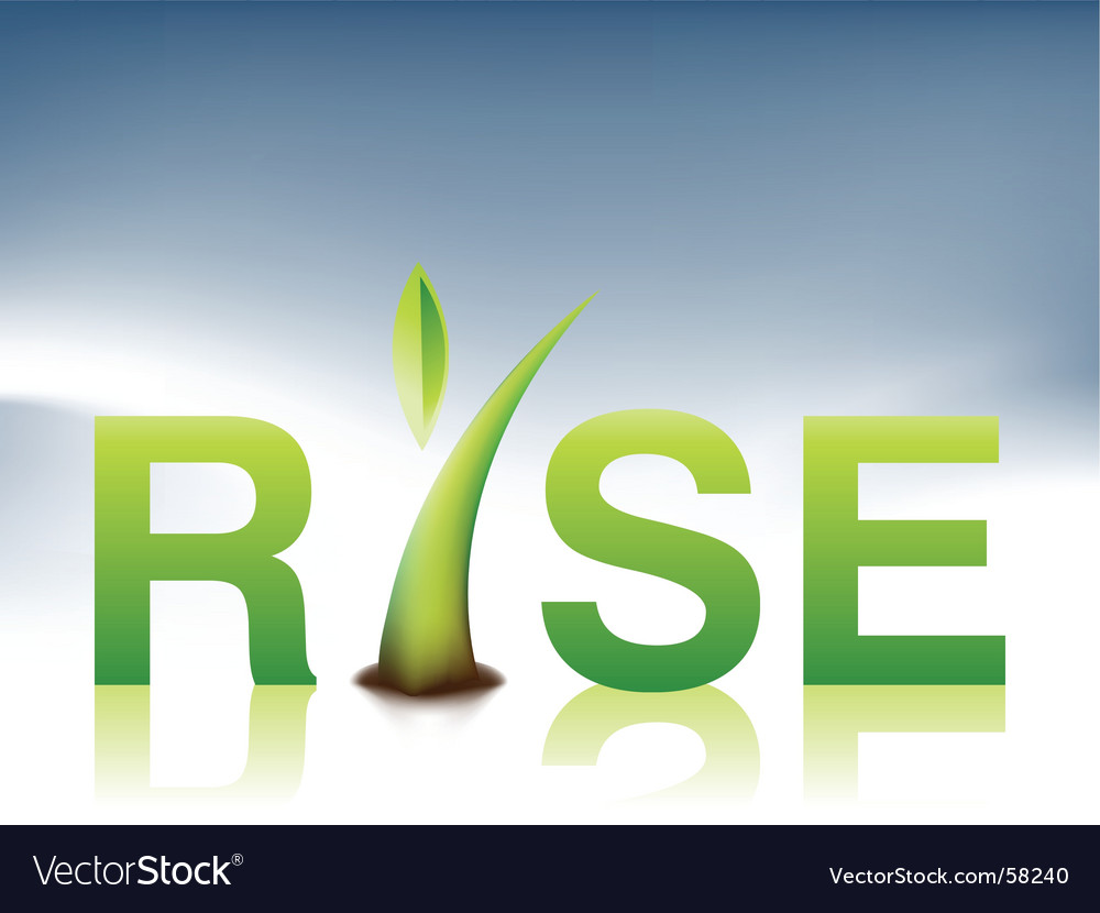 Rise illustration vector | Price: 1 Credit (USD $1)