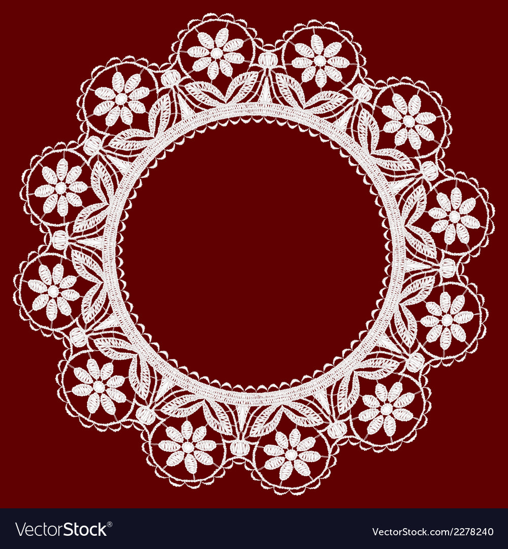 Round openwork lace border realistic vector   Price: 1 Credit (USD $1)
