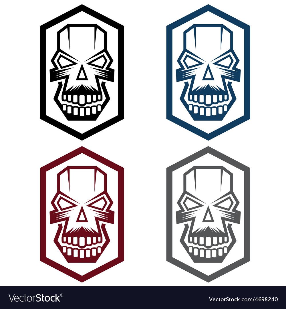 Set of digital skulls vector | Price: 1 Credit (USD $1)