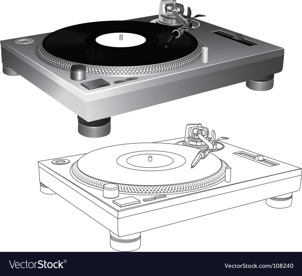 Turntable vector | Price: 1 Credit (USD $1)