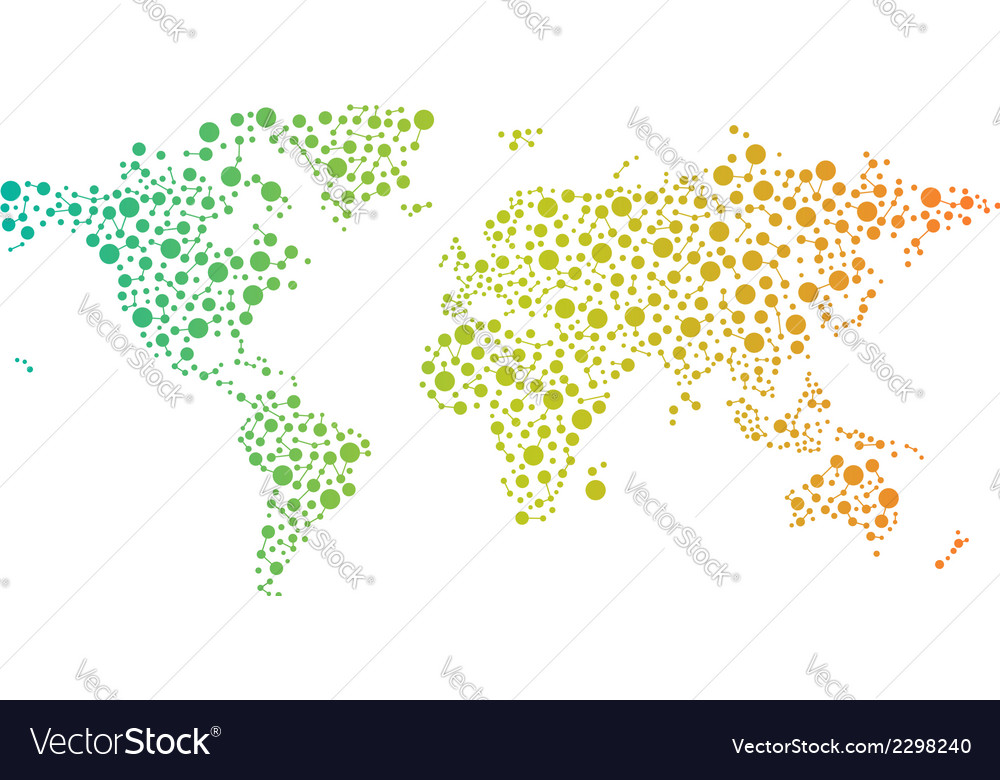World network map logo vector | Price: 1 Credit (USD $1)