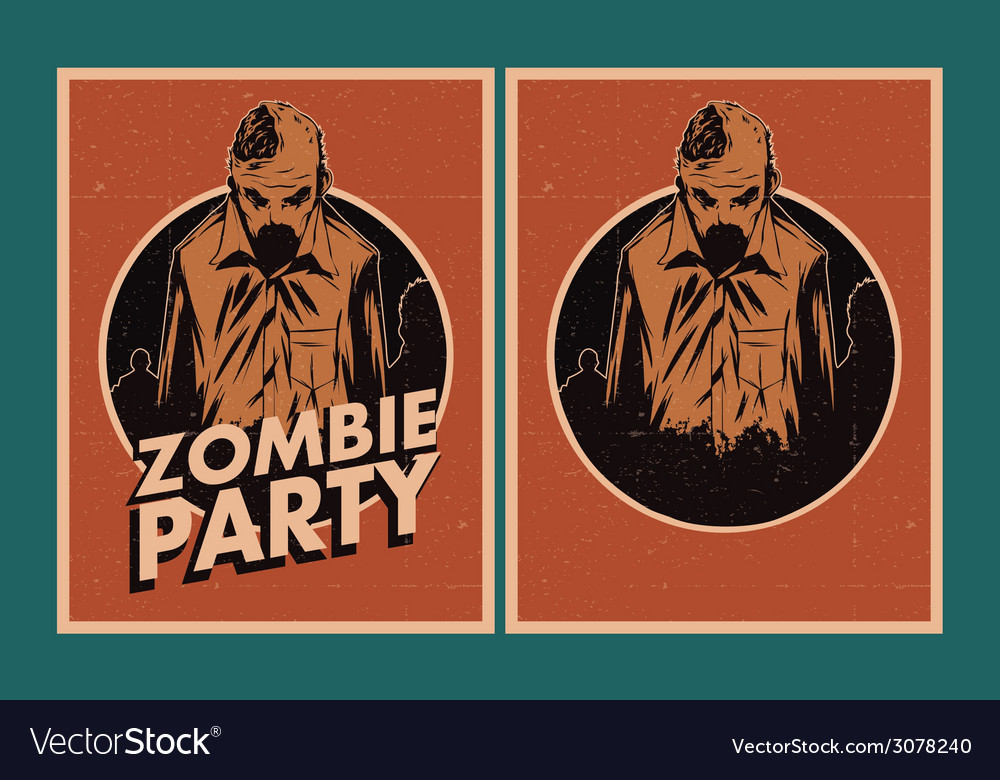 Zombie party invitation vector | Price: 1 Credit (USD $1)