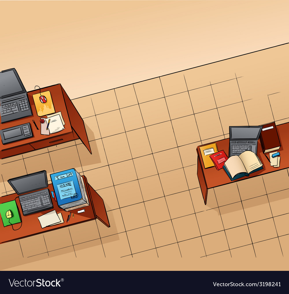 Empty office vector | Price: 1 Credit (USD $1)