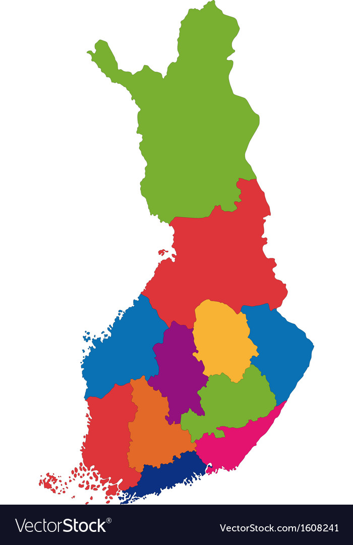 Finland map vector | Price: 1 Credit (USD $1)