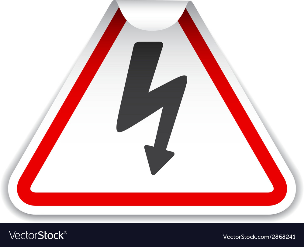 High voltage sticker vector | Price: 1 Credit (USD $1)
