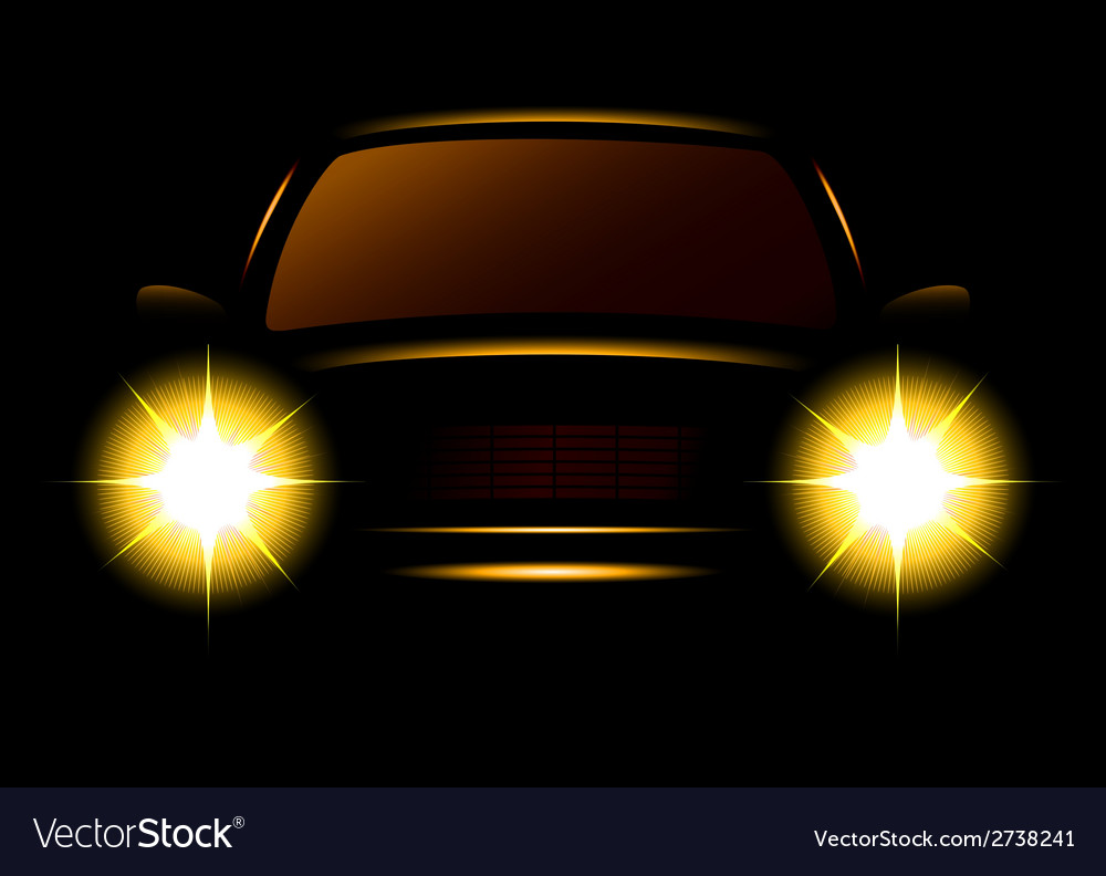 Modern car silhouette vector | Price: 1 Credit (USD $1)