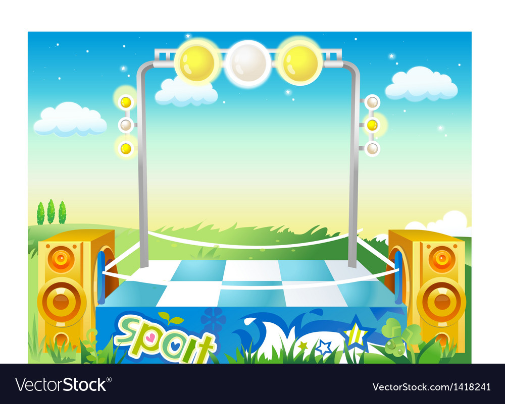 Music stage background vector | Price: 1 Credit (USD $1)
