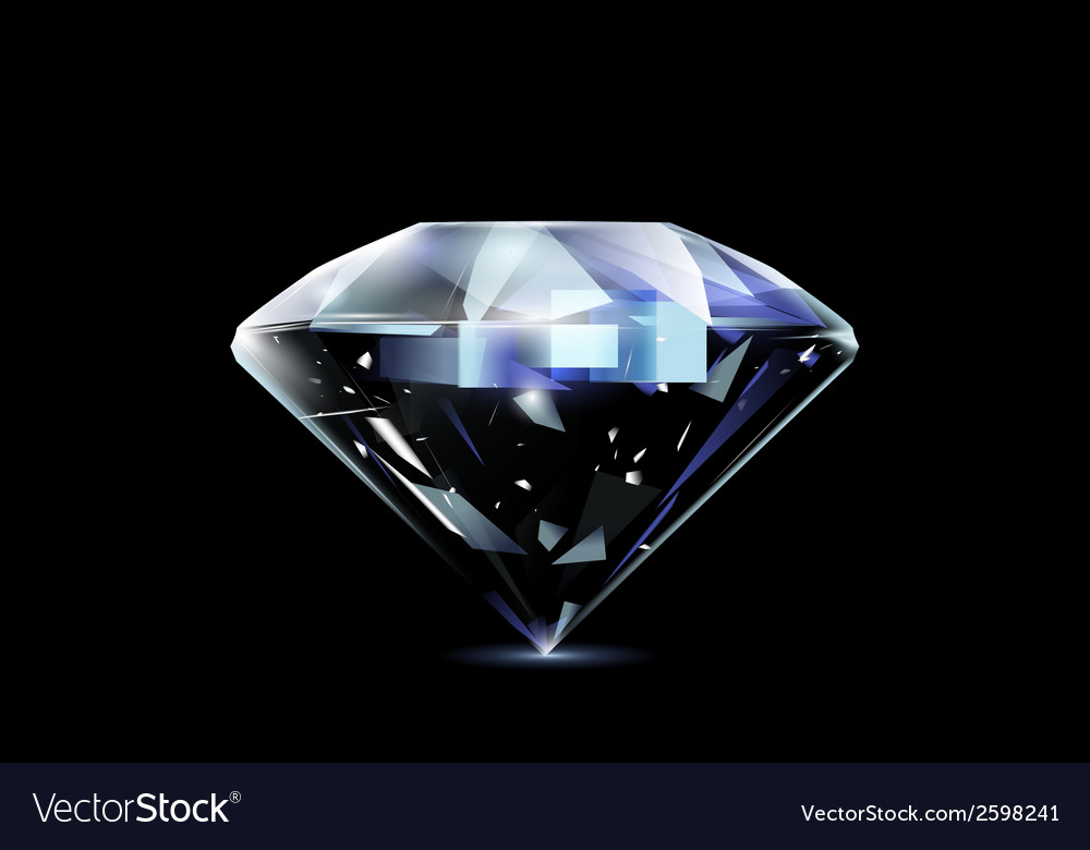 Realistic diamond vector | Price: 1 Credit (USD $1)