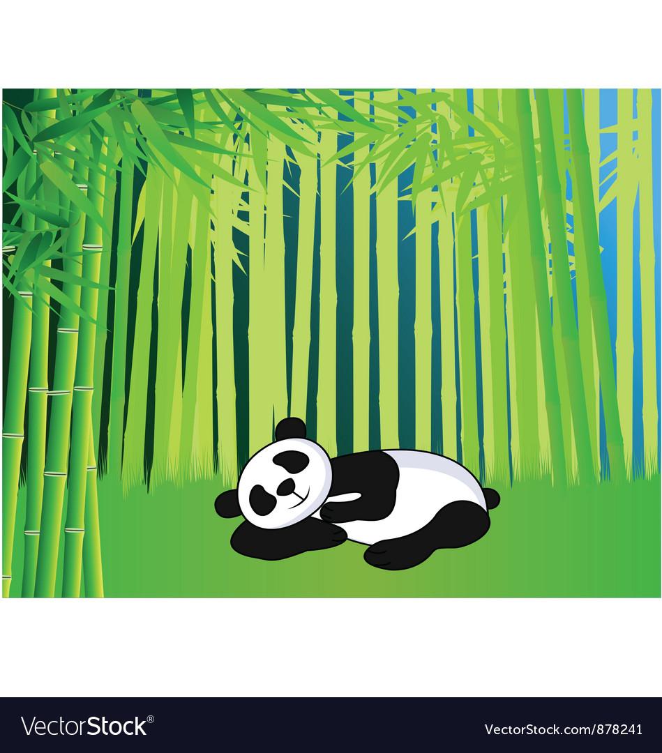 Sleeping panda vector | Price: 1 Credit (USD $1)