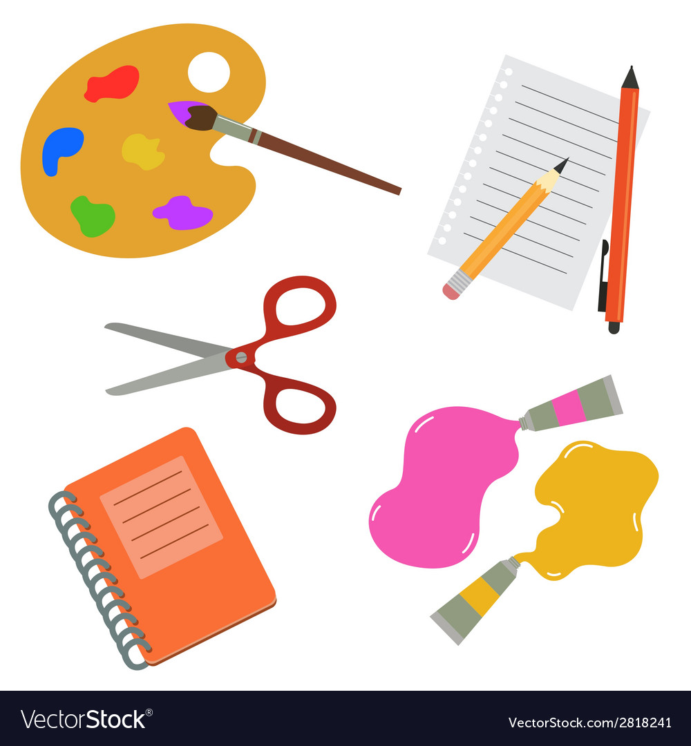 Tools for school and hobby vector | Price: 1 Credit (USD $1)