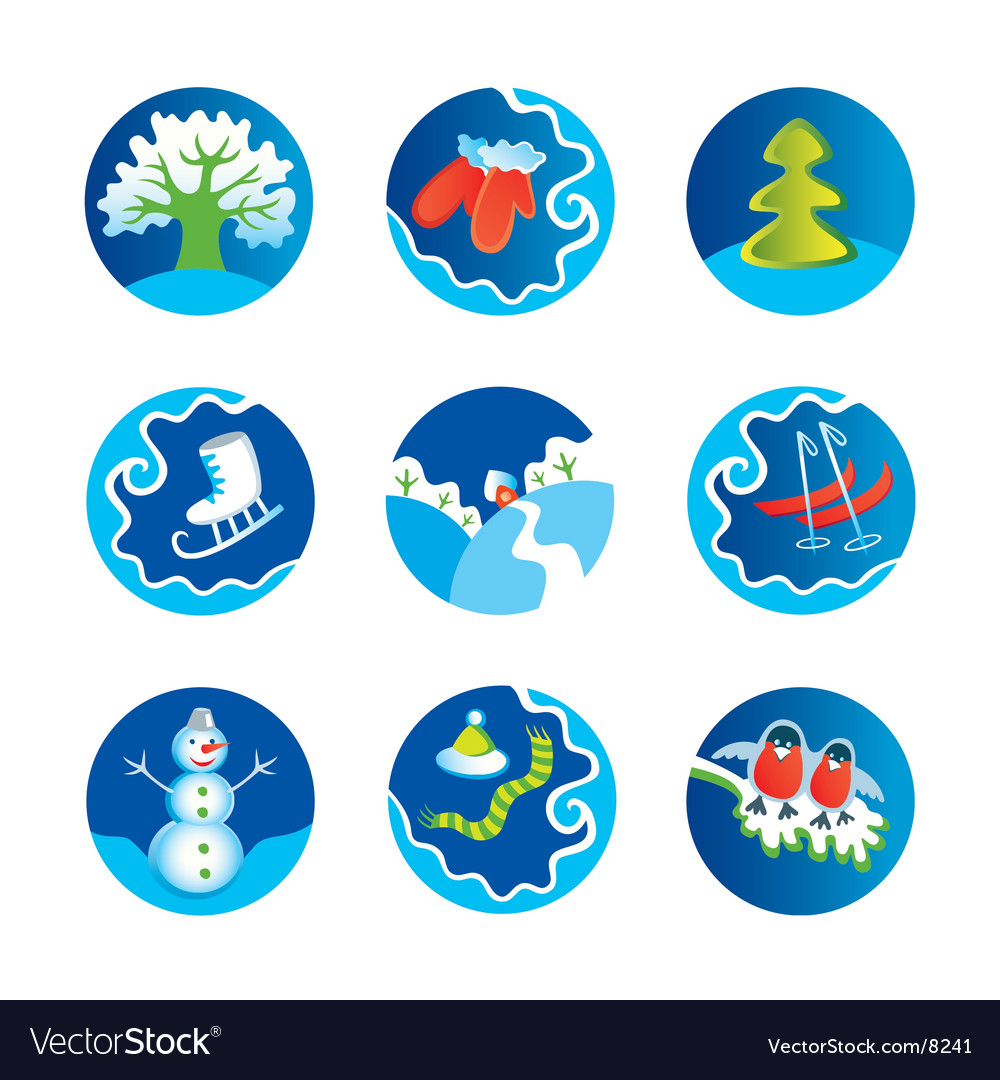 Winter icons vector | Price: 3 Credit (USD $3)