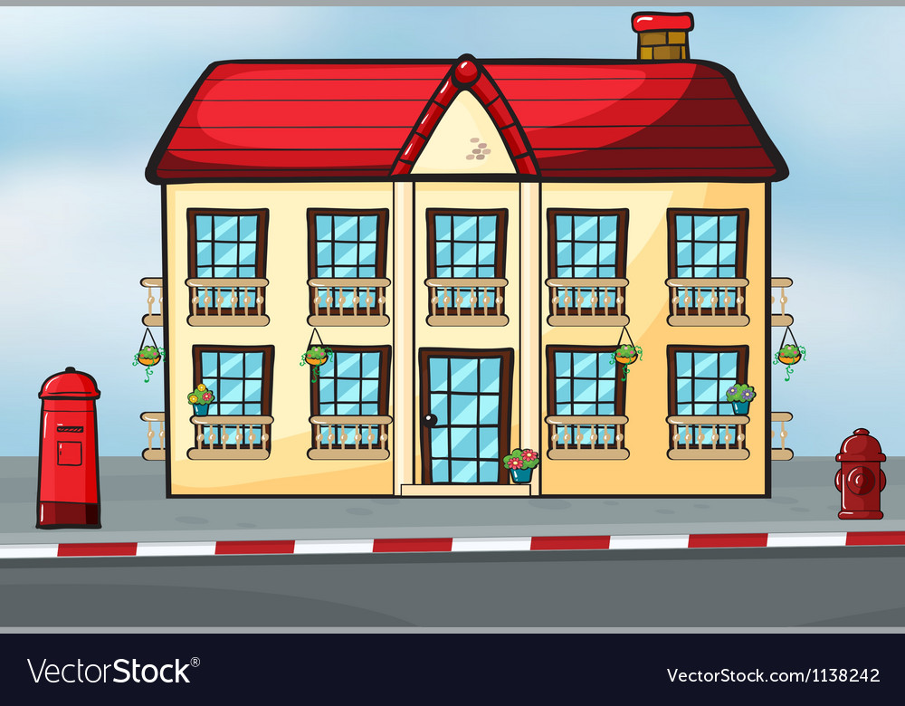 A house and a mailbox vector | Price: 1 Credit (USD $1)
