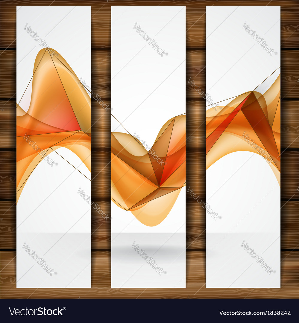 Abstract orange smooth waves vector | Price: 1 Credit (USD $1)