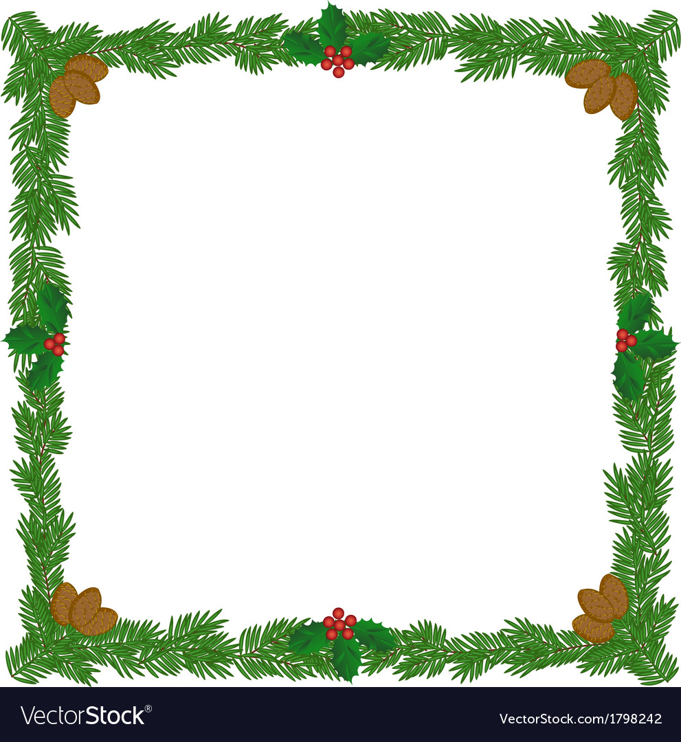 Christmas wreath frame vector | Price: 1 Credit (USD $1)