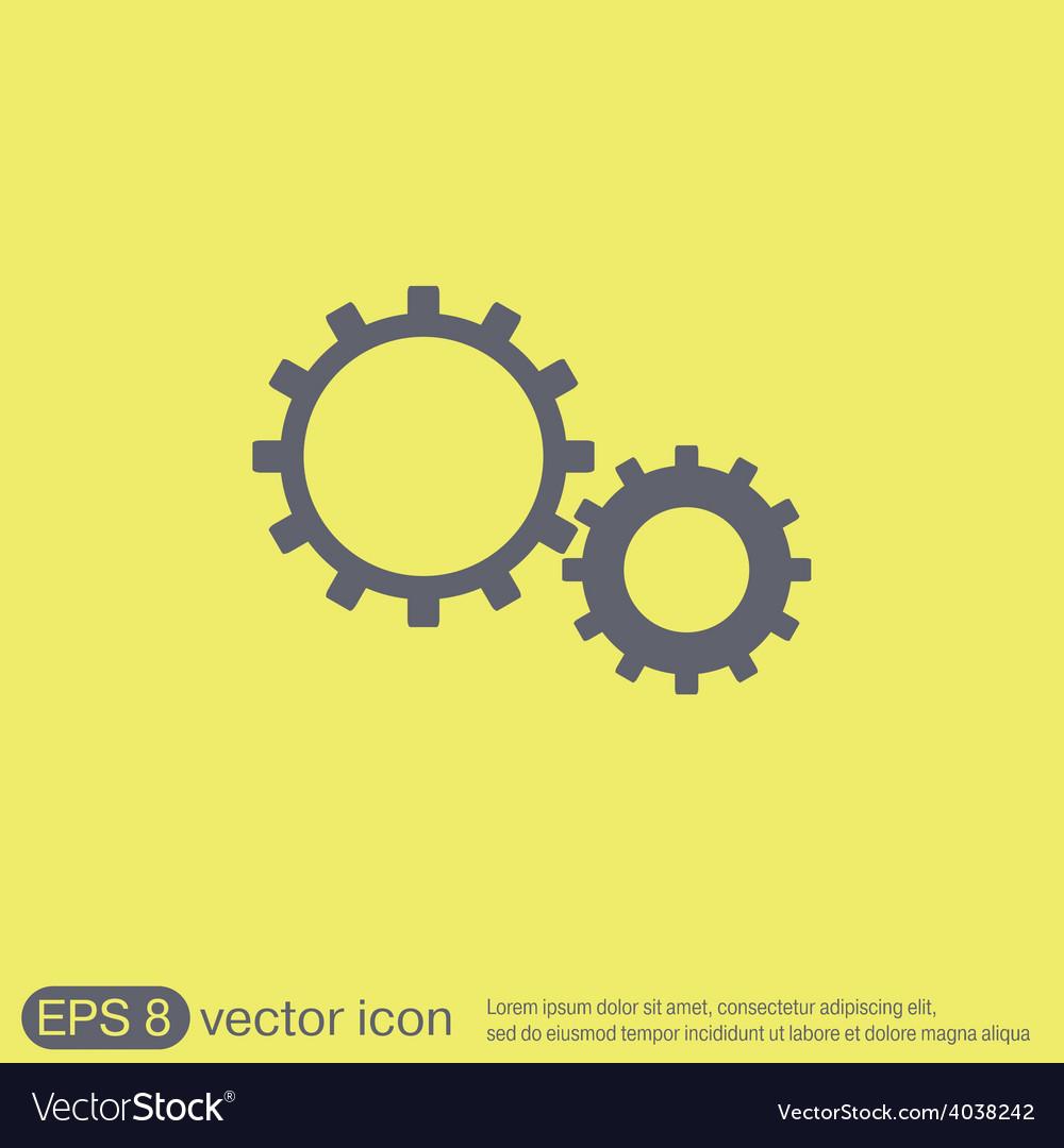 Cogwheel icon setting and repair symbol settings vector | Price: 1 Credit (USD $1)