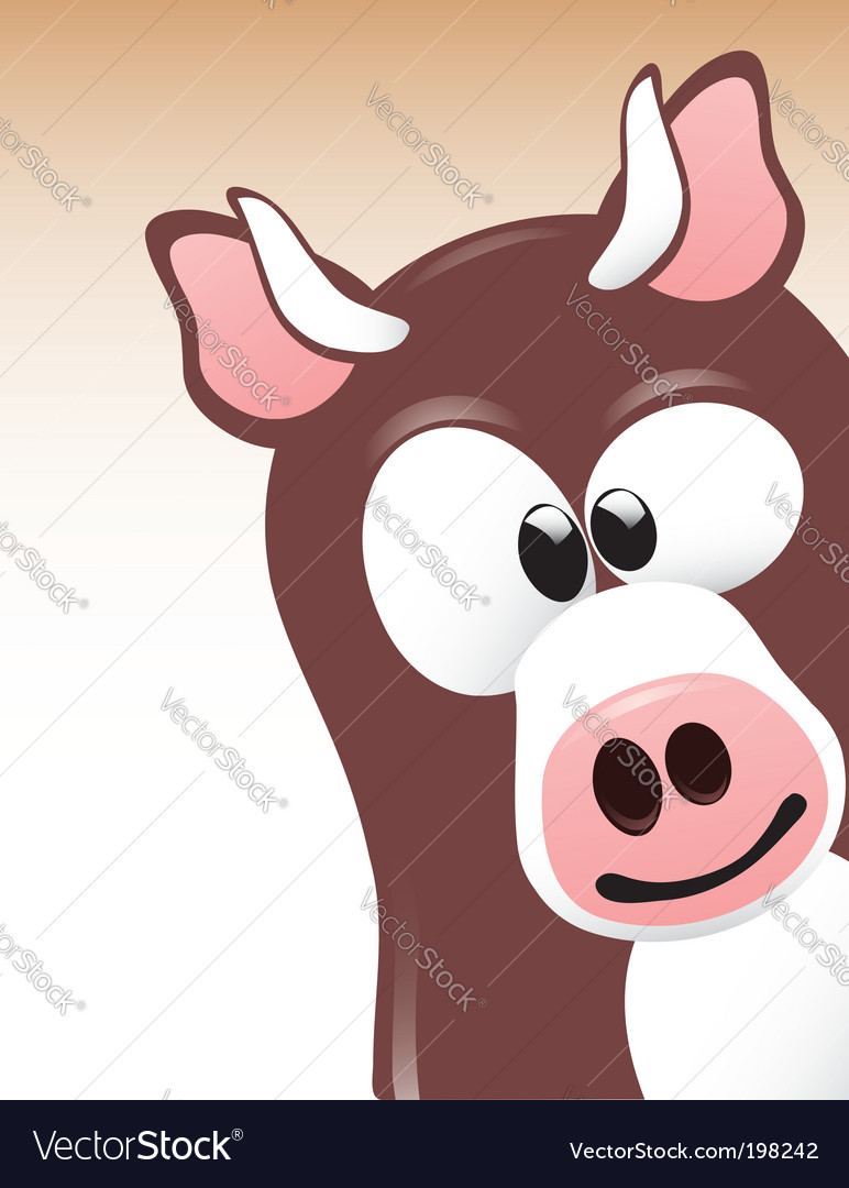 Cute cow vector | Price:  Credit (USD $)