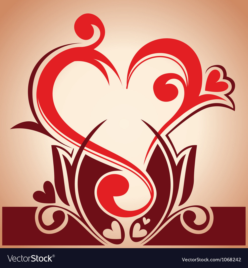 Floral hearth vector | Price: 1 Credit (USD $1)