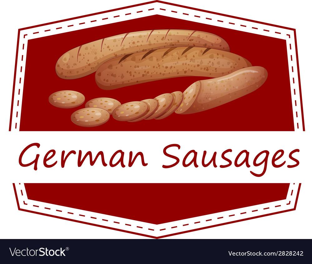 German sausages vector | Price: 1 Credit (USD $1)