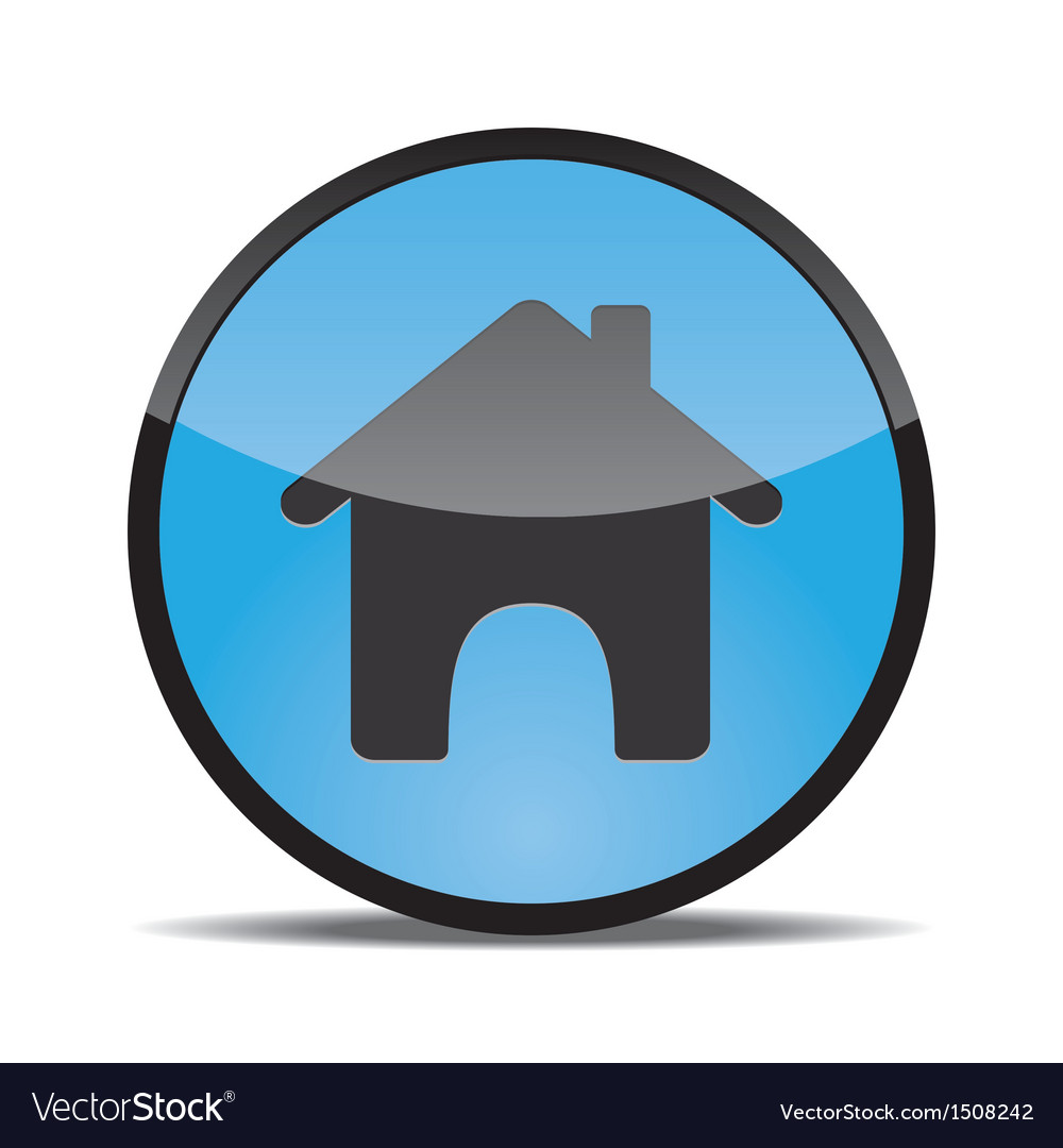 Home web button round vector | Price: 1 Credit (USD $1)