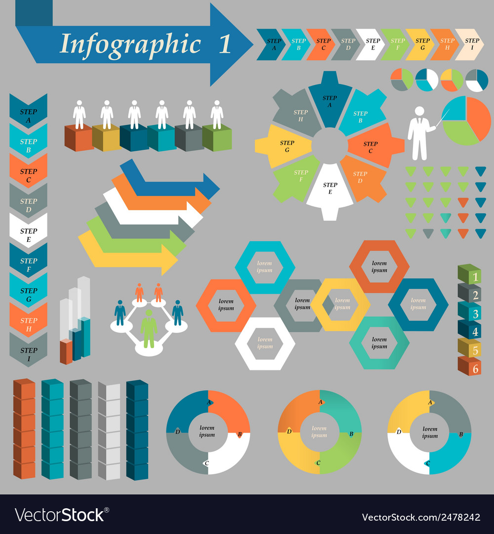 Infographic element set vector | Price: 1 Credit (USD $1)