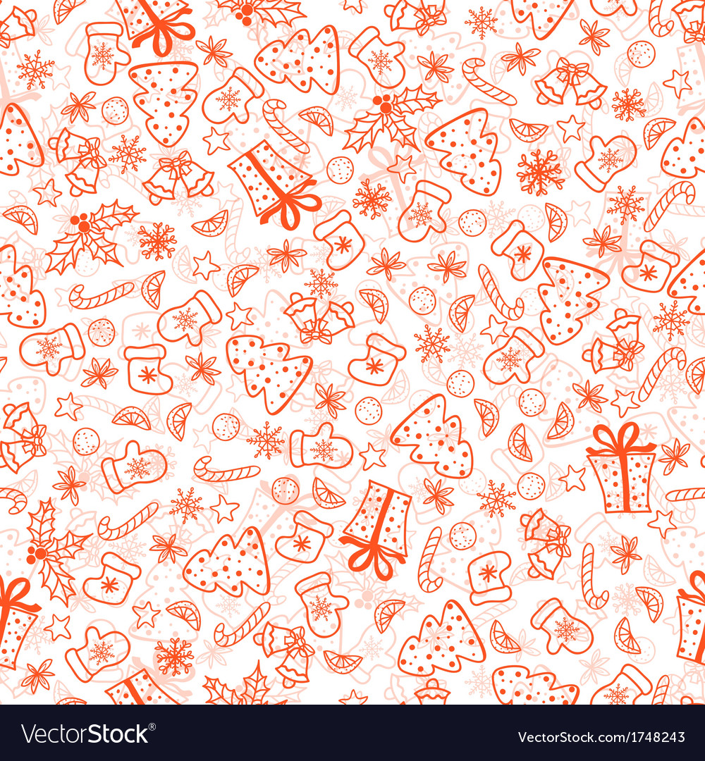 Christmas background seamless tiling vector | Price: 1 Credit (USD $1)