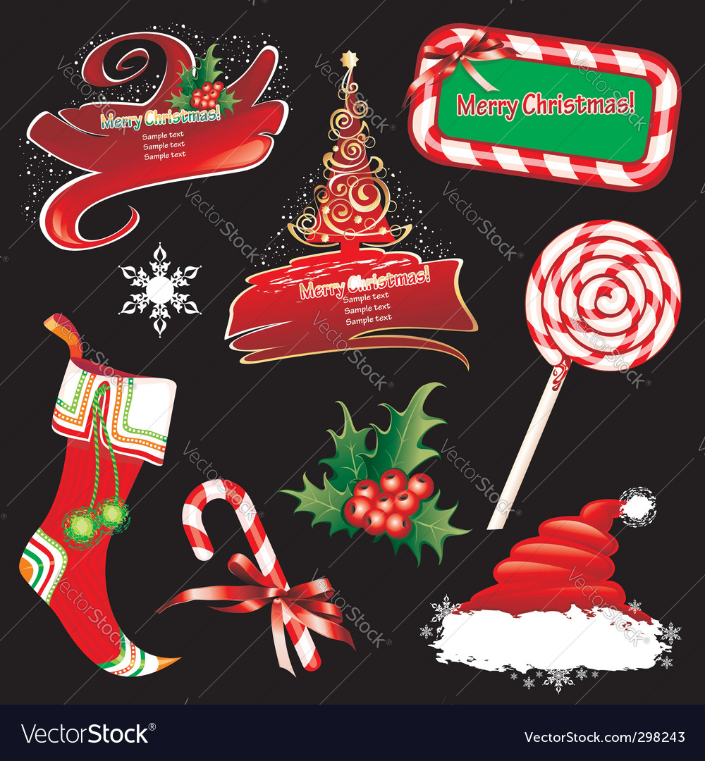 Christmas banners vector | Price: 3 Credit (USD $3)