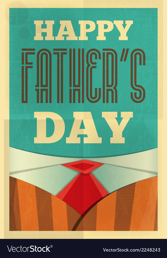 Fathers day poster suit vector | Price: 1 Credit (USD $1)
