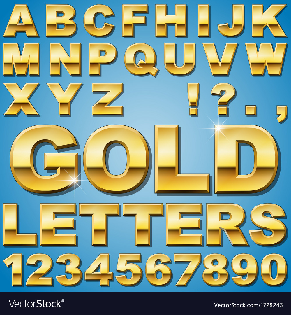 Gold letters vector | Price: 1 Credit (USD $1)