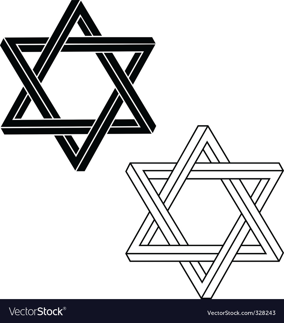 Jewish star of david vector | Price: 1 Credit (USD $1)