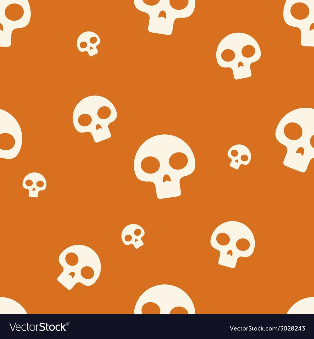 Orange small skull pattern vector | Price: 1 Credit (USD $1)