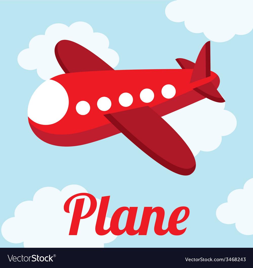 Plane cute design vector