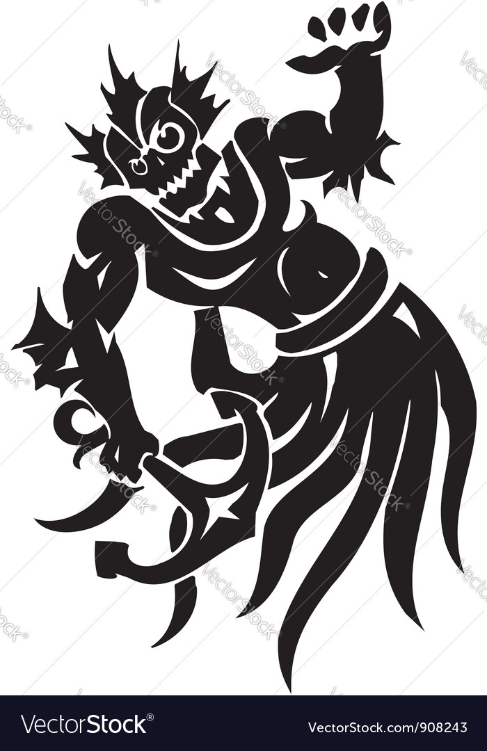 Sea monster -  vinyl-ready vector | Price: 1 Credit (USD $1)