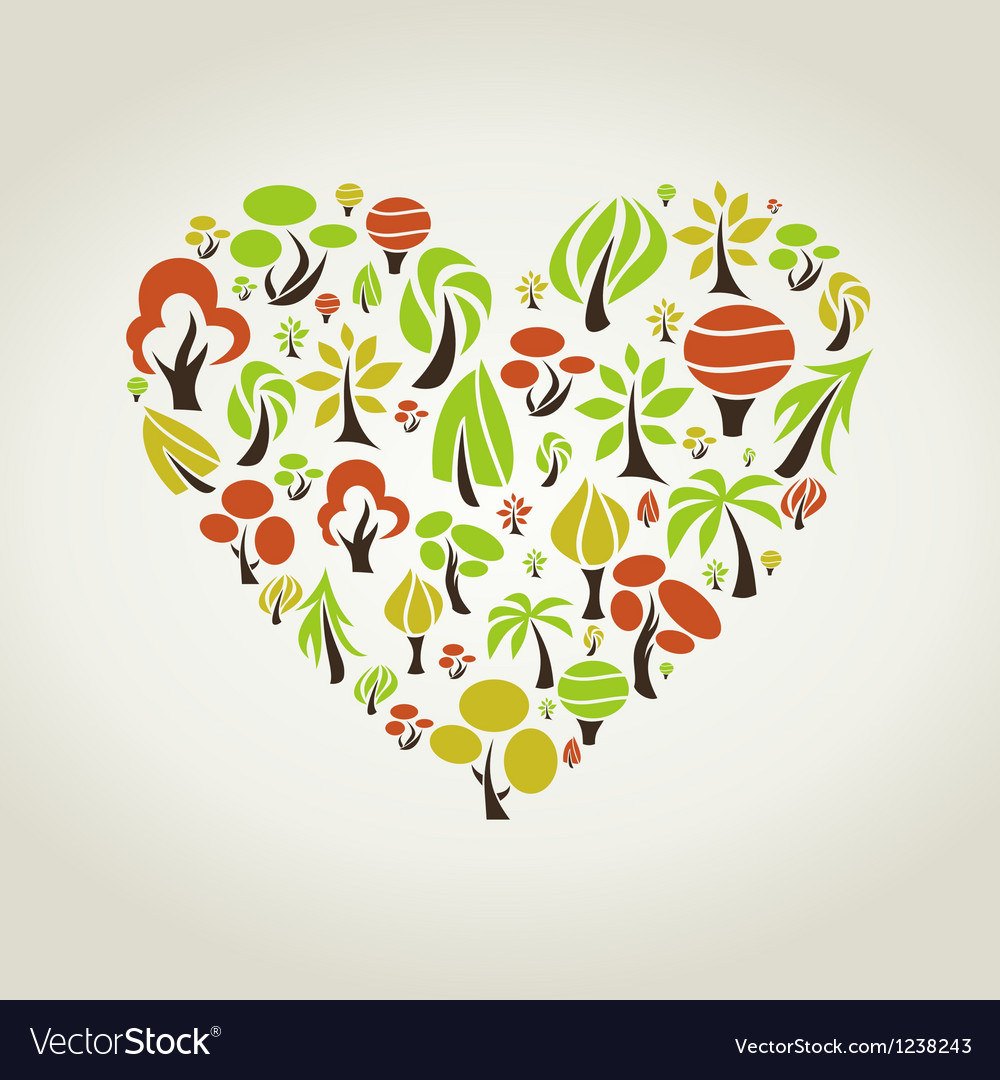 Tree heart vector | Price: 1 Credit (USD $1)