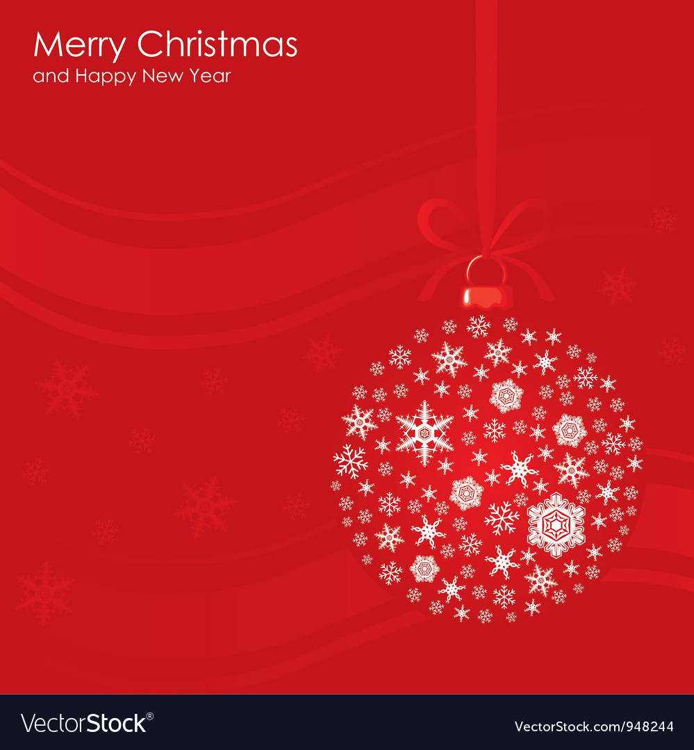 Christmas ball background vector | Price: 1 Credit (USD $1)