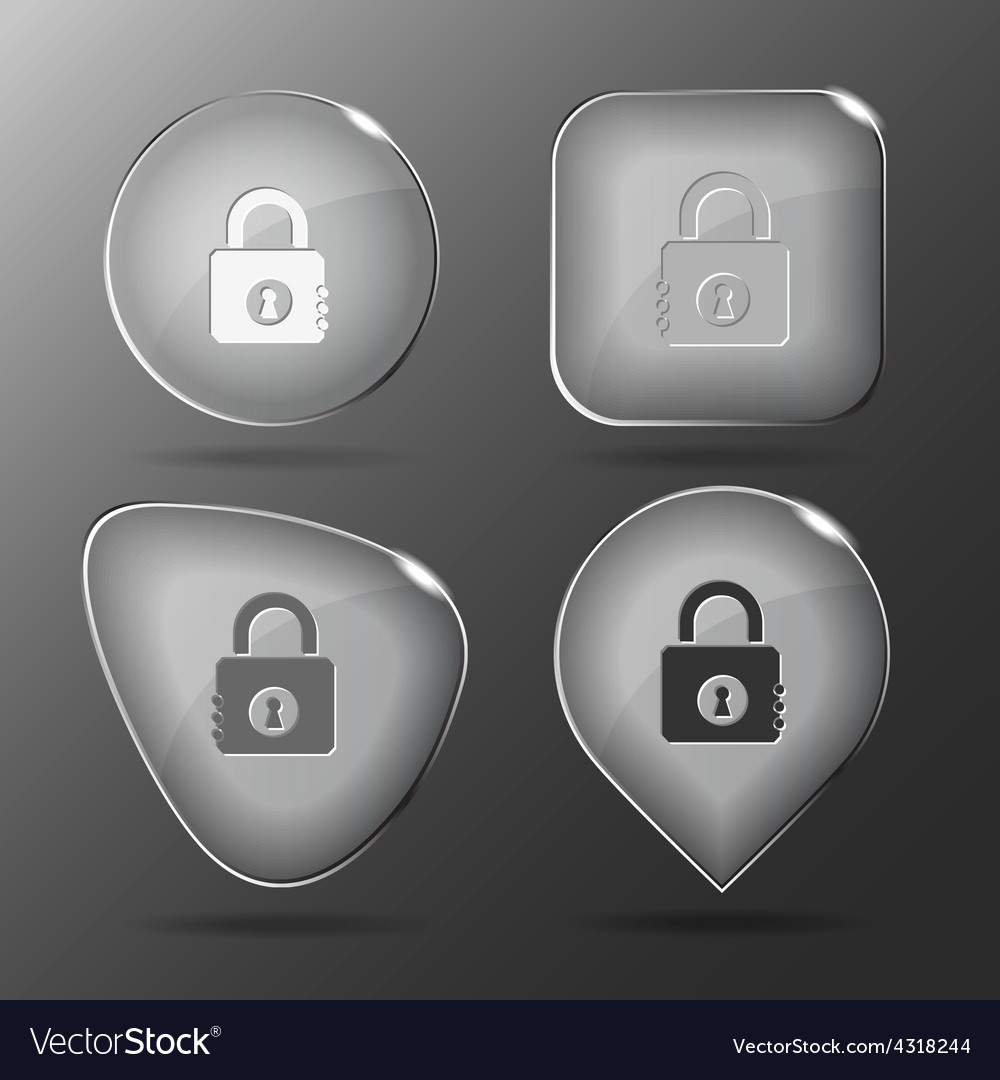 Closed lock glass buttons vector | Price: 1 Credit (USD $1)