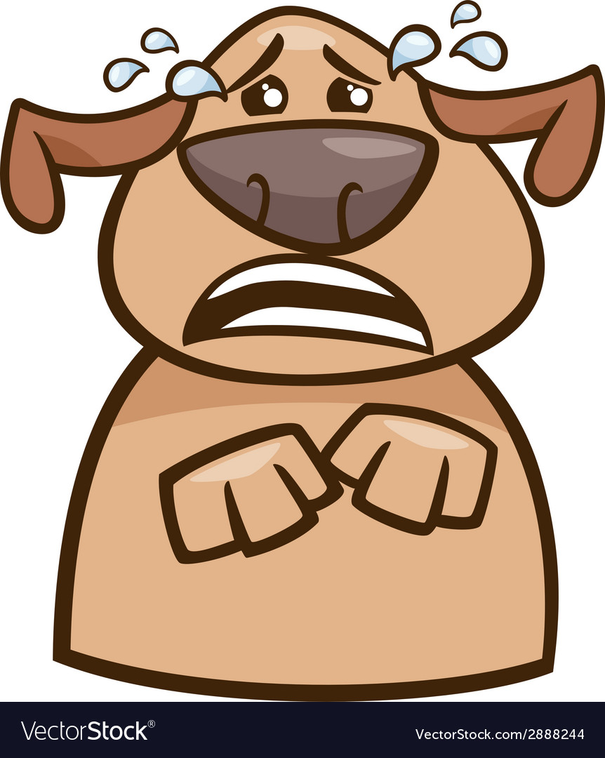 Crying dog cartoon vector | Price: 1 Credit (USD $1)