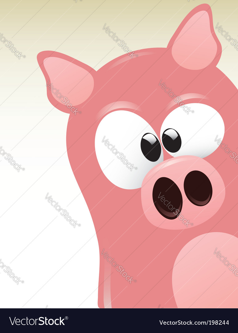 Cute pig vector | Price:  Credit (USD $)
