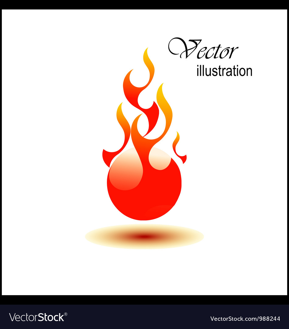 Fire ball vector | Price: 1 Credit (USD $1)