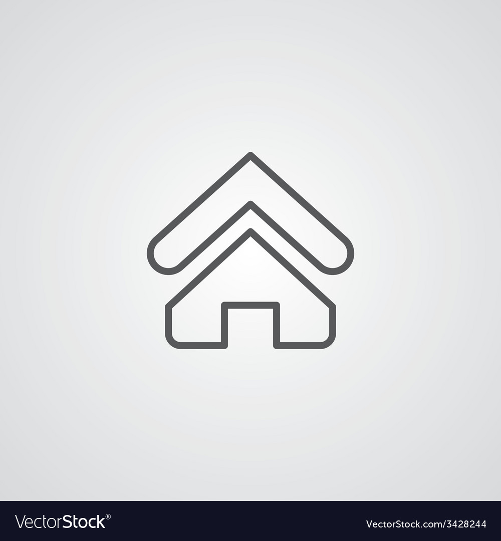 Home outline symbol dark on white background logo vector | Price: 1 Credit (USD $1)