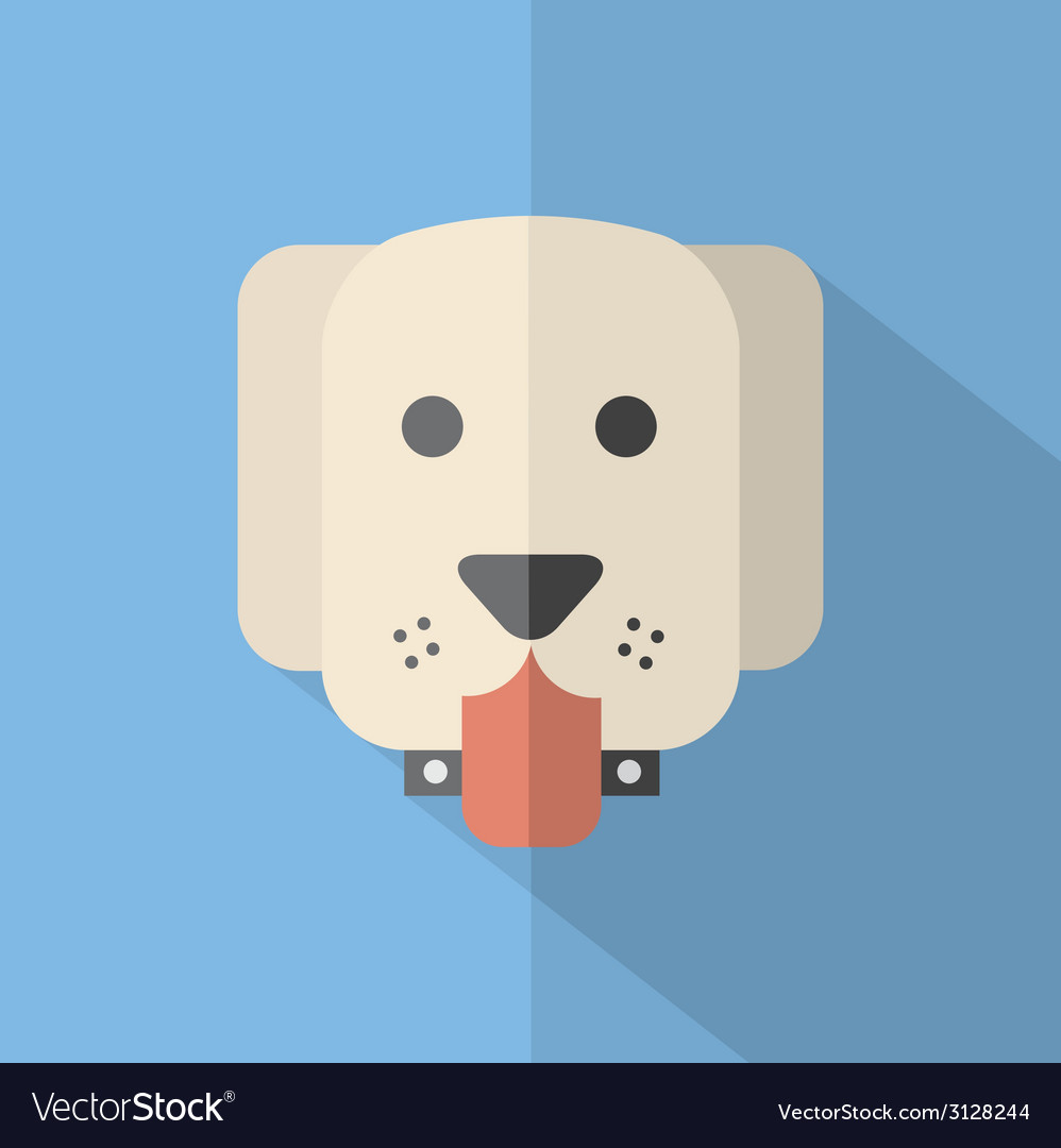 Modern flat design dog icon vector | Price: 1 Credit (USD $1)