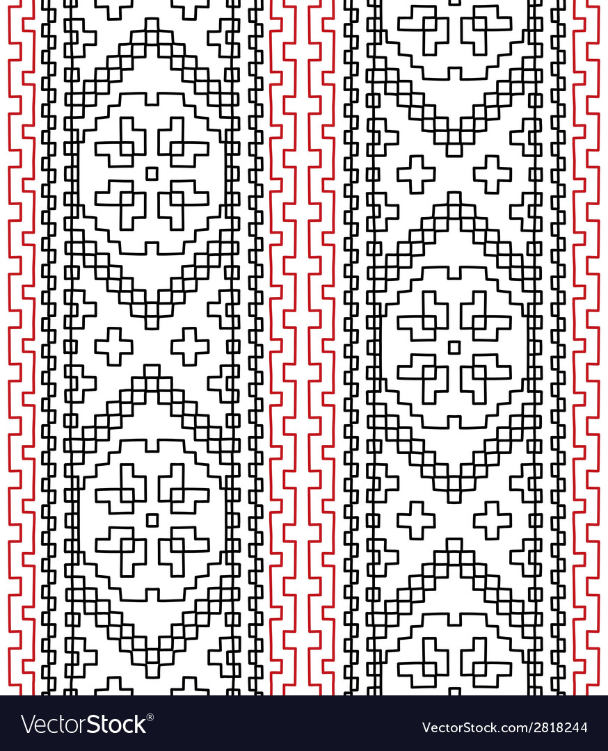 Tribal ethnic seamless pattern vector