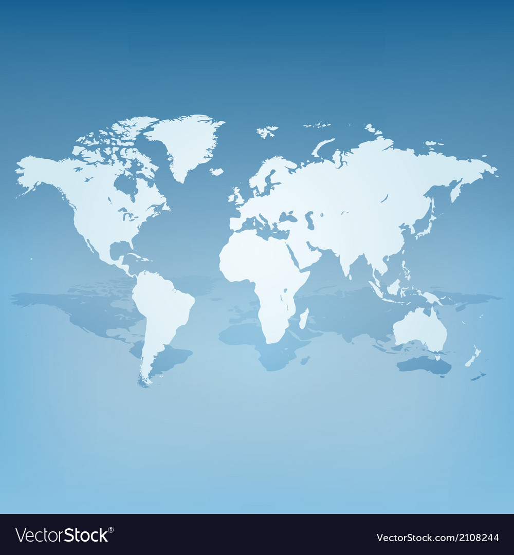 World map with shadow 3d concept vector | Price: 1 Credit (USD $1)