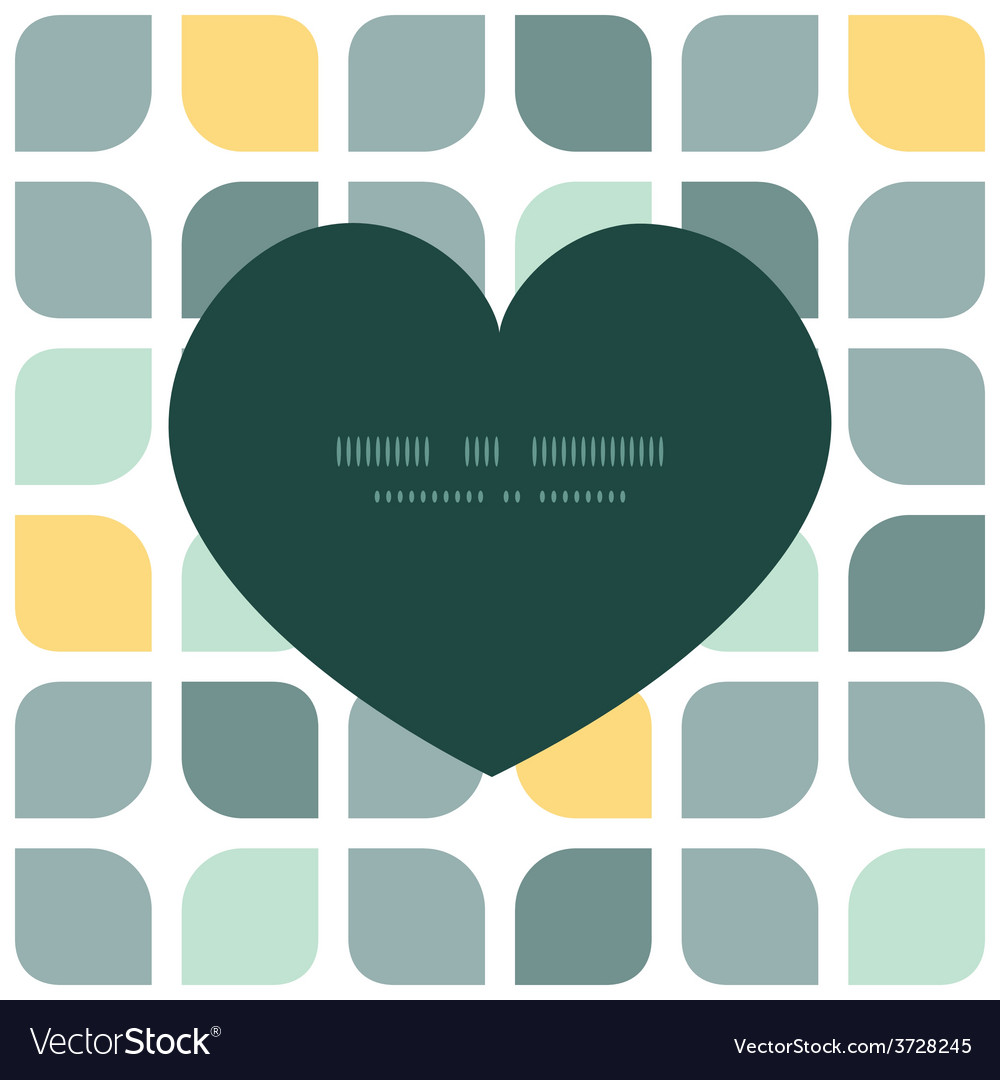 Abstract gray yellow rounded squares heart vector   Price: 1 Credit (USD $1)