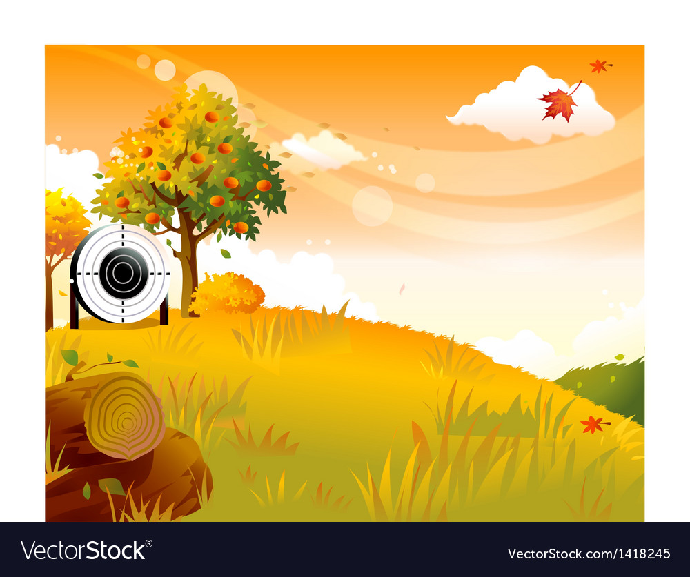 Autumn archery practice vector | Price: 1 Credit (USD $1)