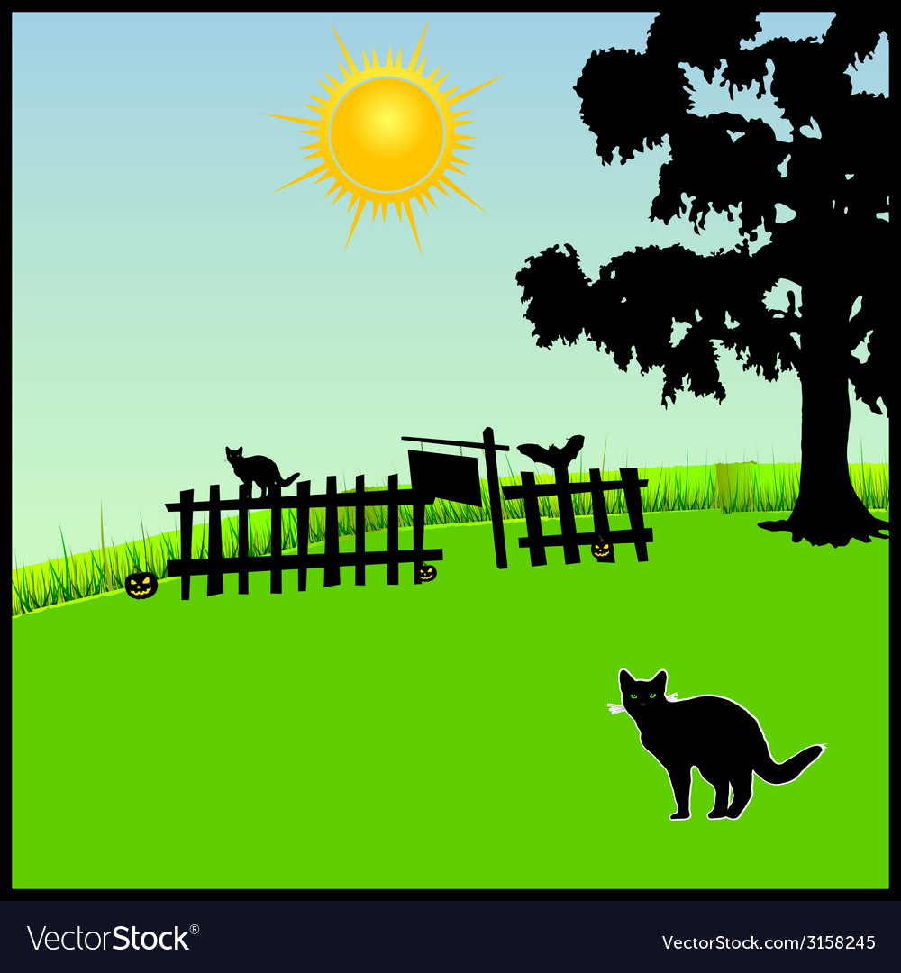 Cat in the nature vector | Price: 1 Credit (USD $1)