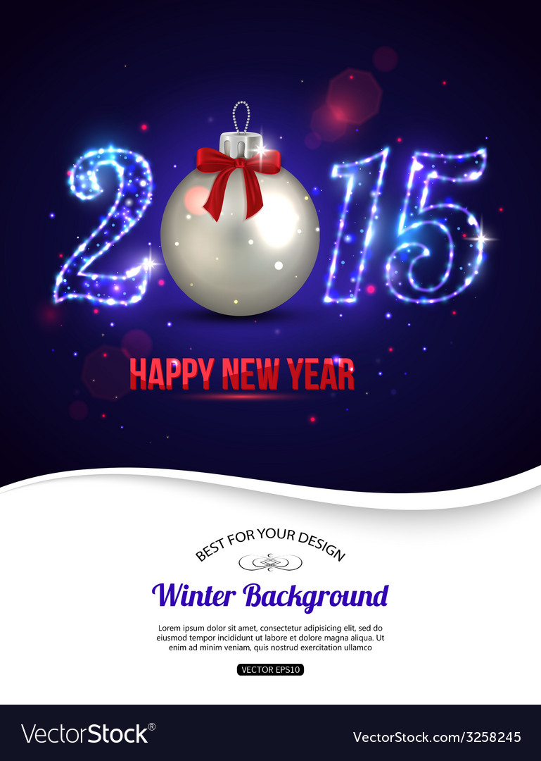 Happy new year 2015 celebration concept with vector | Price: 1 Credit (USD $1)