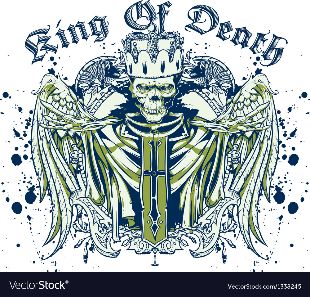 King of death skull vector | Price: 3 Credit (USD $3)