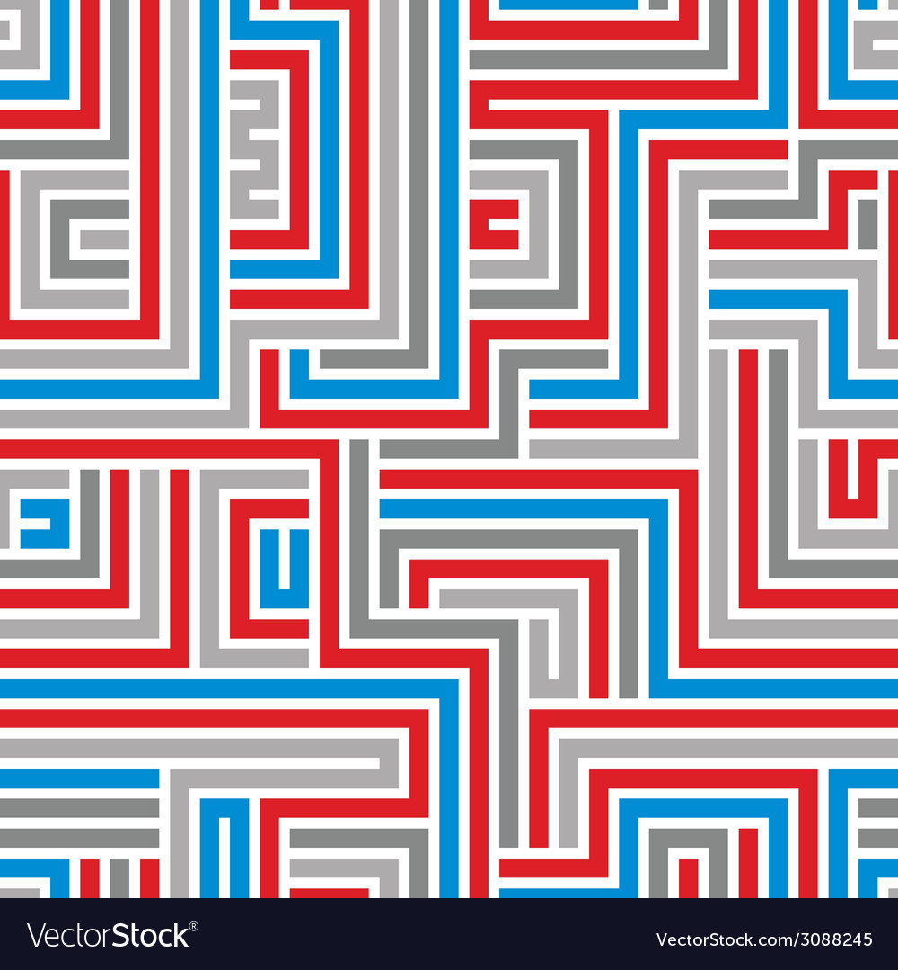 Maze seamless pattern vector | Price: 1 Credit (USD $1)