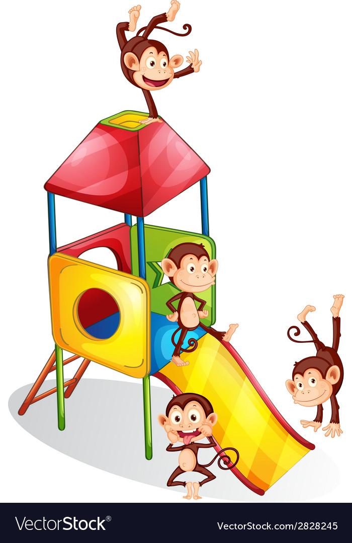 Monkeys and slide vector | Price: 1 Credit (USD $1)